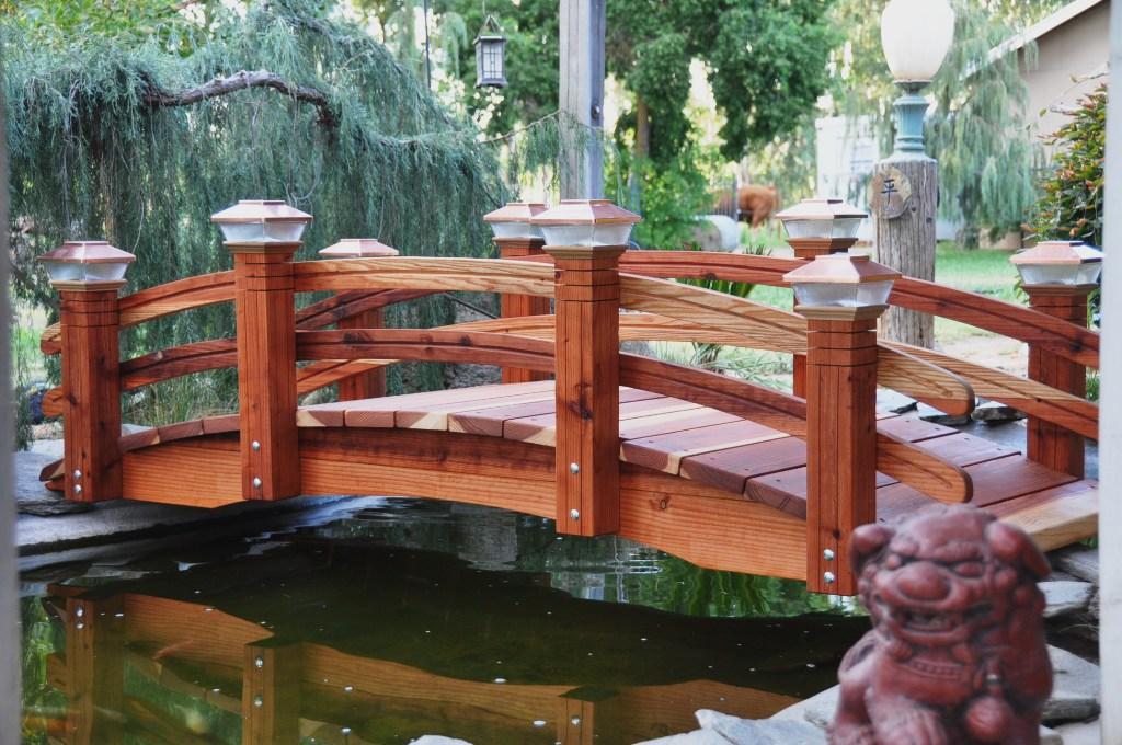 Wooden Garden Bridges, Redwood Garden Bridges