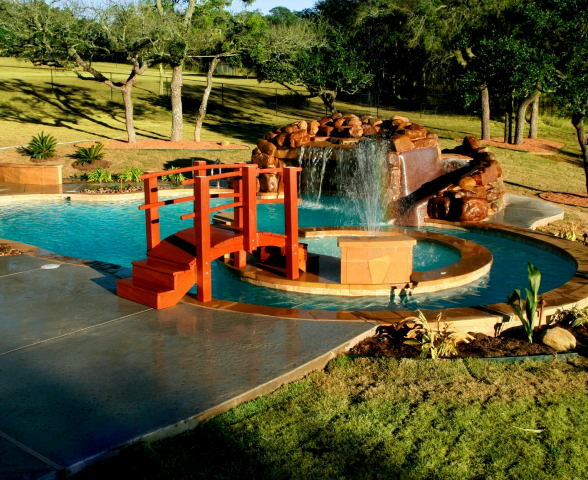 Wooden Bridge A Must For Any Koi Pond Garden Decoration