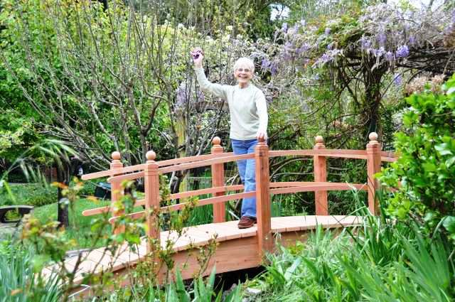 14 Foot Double Rail Garden Bridge