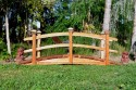 10 Foot Span Curved Double Rail Garden Bridge