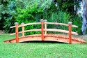 12 Foot Span Curved Double Rail Garden Bridge