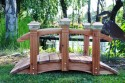 5 Foot Span Curved Single Rail Garden Bridge