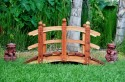 5 Foot Span Curved Double Rail Garden Bridge