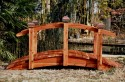 8 Foot Span Curved Single Rail Garden Bridge