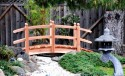 8 Foot Span Curved Double Rail Garden Bridge
