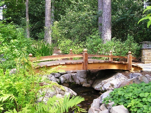 16 Foot Short Post Garden Bridges