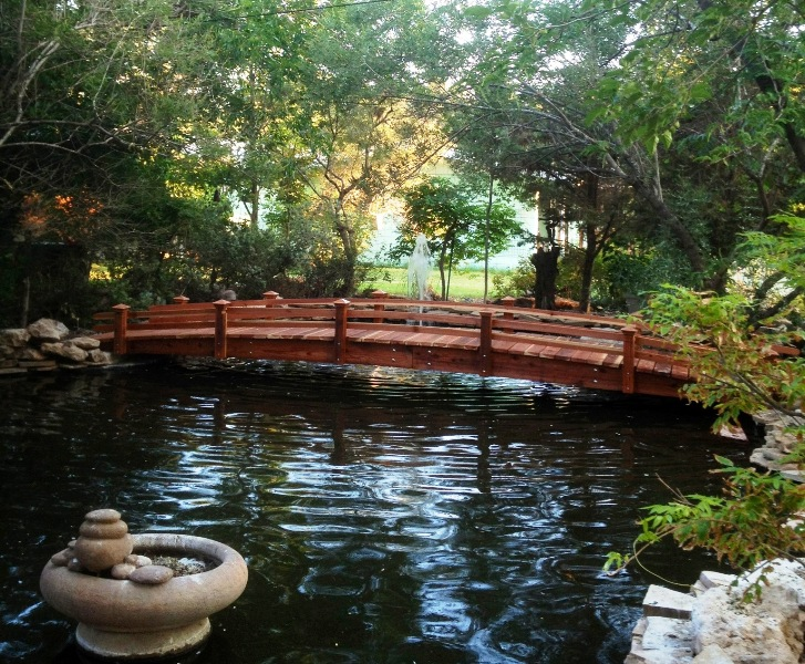 20 foot short post bridges short post garden bridges 4 for Fish pond bridges