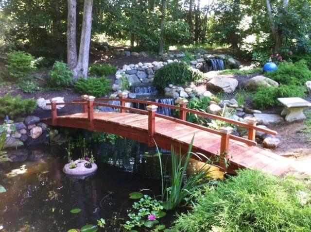 20 Foot Short Post Garden Bridges