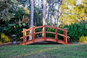 High Arch Redwood Bridges Add a whole new dimension to the look of your landscape with the new High Arch Series bridge. When you need clearance underneath your bridge.