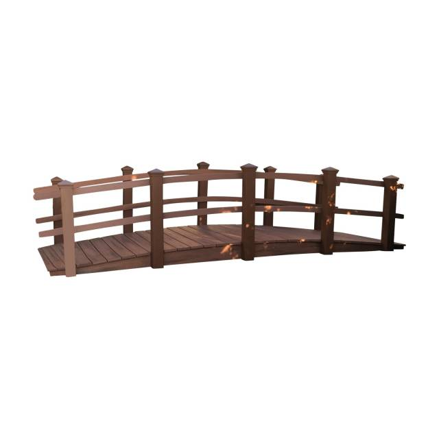 Composite Garden Bridges We offer bridges made with Choice Premium composite materials with a rich wood grain look and feel in many different colors