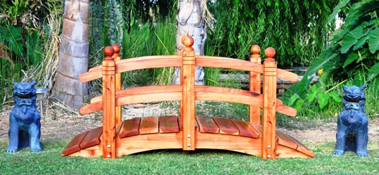 Exceptionnel ... Japanese Garden Bridges Double Rail Garden Bridges ...