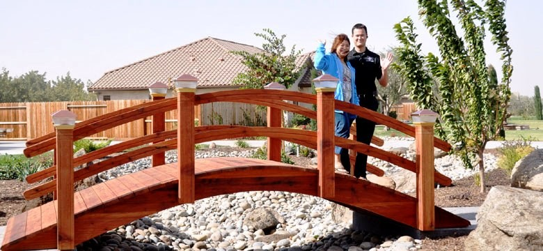 japanese bridges 16 foot garden bridges with solar lights