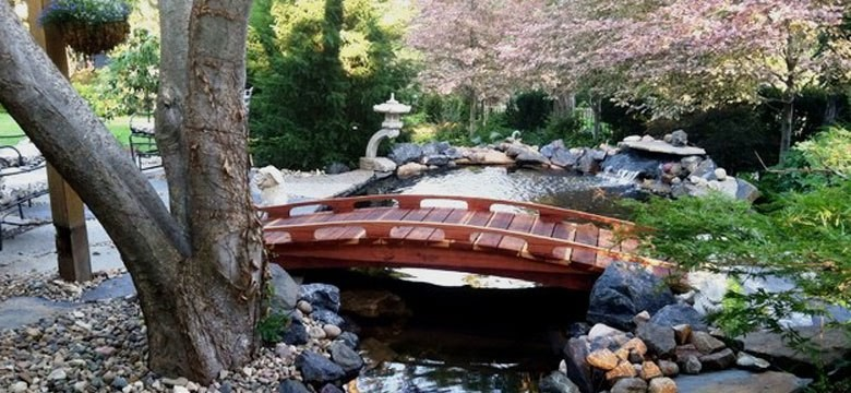 garden bridges japanese bridges - Japanese Wooden Garden Bridge