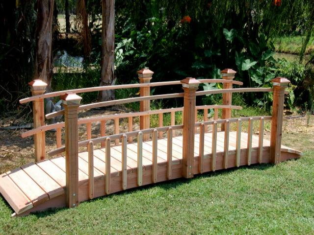 Redwood Garden Bridges Exquisitely Designed Bridges
