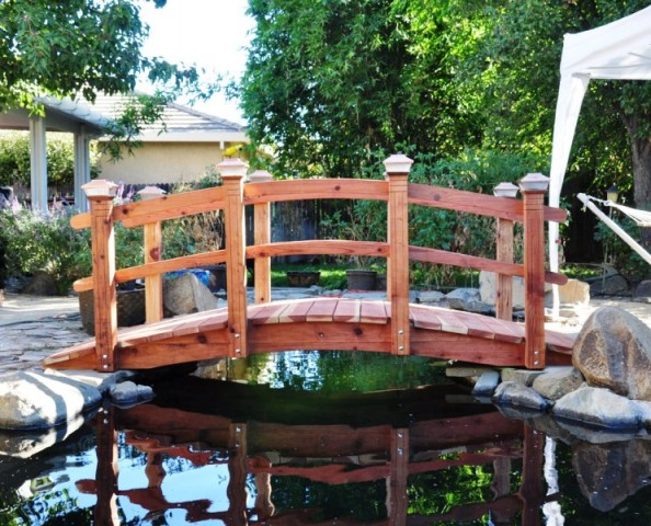 A 12 Foot ,8 Post ,over A Koi Pond, In Roseville,CA