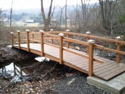 Here is a 25 footer made with composite lumber, located in White Haven, PA